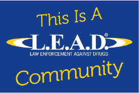18″wide x 12″tall LEAD Community Sign