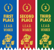 Ribbons 1st, 2nd, 3rd Place
